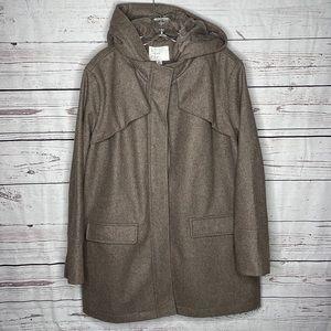 A New Day 3/4 Length Tan Hooded Winter Coat Sz XL!